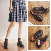 娃娃鞋 小皮鞋女英倫學生百搭日系軟妹復古學院風圓頭平底馬丁單鞋 3色34-40
