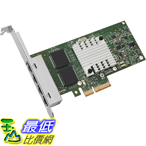 [106美國直購] Intel 原廠網路卡 Server Adapter I340-T4 1Gbps RJ-45 Copper, PCI Express 2.0 x 4 Lane, OEM packaging