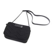 Petite Jolie  V字壓紋肩背鏈帶相機包-黑色