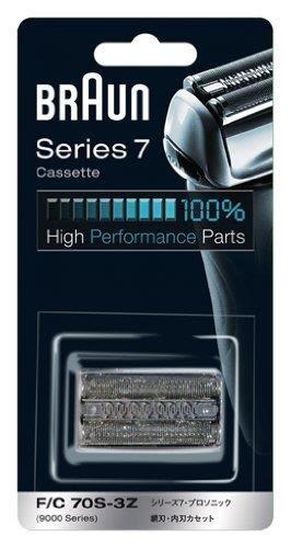 【日本代購】Braun 替換刀片 7系列用 網刀 內刀一體型 F/C70S-3Z 正規品 銀色