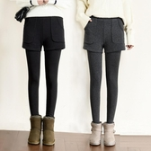假兩件褲子 假兩件打底褲女外穿薄款春秋冬高腰短褲純棉大碼保暖棉褲 童趣屋