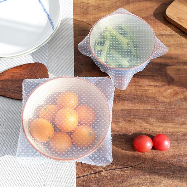 硅膠保鮮膜(小號) 重複使用 可微波 多功能碗蓋 密封蓋 保鮮蓋 保鮮膜 碗蓋 廚房【葉子小舖】