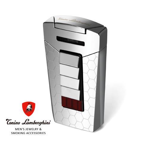 義大利 藍寶堅尼精品 - AERO LIGHTER 打火機(銀色雷射蜂窩) ★ Tonino Lamborghini 原廠進口 ★