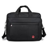 大容量手提包單肩包韓版男包商務包公文包短途旅游包防水牛津布包