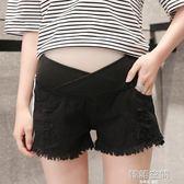 孕婦短褲女夏季2018新款休閒寬鬆打底褲夏裝外穿低腰薄款孕婦褲子