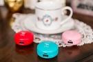 【愛瘋潮】FADOU 2400mah 可愛寵物甜心馬卡龍 造型行動電源 - 博美犬 / 紅色
