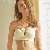 隱形胸罩 無肩帶文胸聚攏防滑裝薄款無帶隱形內衣女胸貼婚紗露肩抹胸胸罩「七色堇」