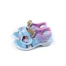 冰雪奇緣 Frozen Elsa Anna 涼鞋 電燈鞋 粉藍/粉紫 中童 FNKT4806 no906