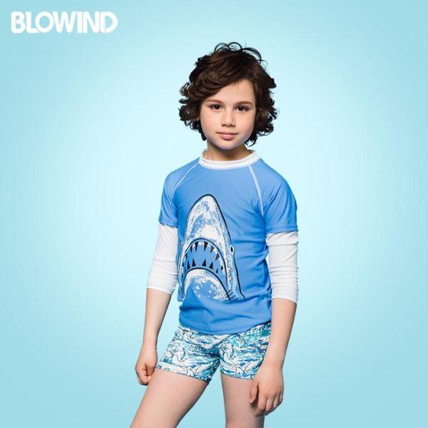 水母衣兒童泳衣防曬長袖分體男童泳裝速干親子度假潛水服聖誕狂歡好康八折