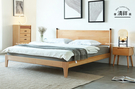 【新竹清祥傢俱】NBB-51BB03 北歐山毛櫸簡約全實木床架(五呎) 簡約 臥室 床組 民宿 無印 雙人床架