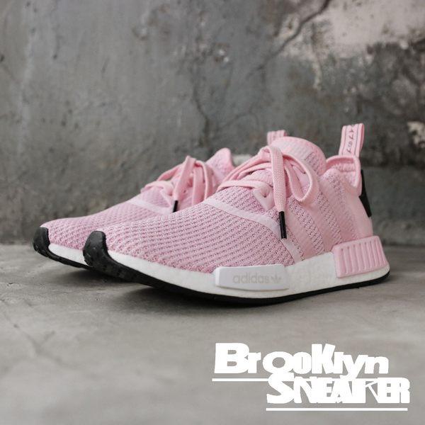 Adidas NMD R1 粉紅 網布 透氣 襪套 慢跑鞋 女 (布魯克林) B37648