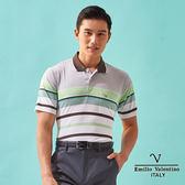 【Emilio Valentino】簡約時尚涼感機能POLO衫-咖啡/綠