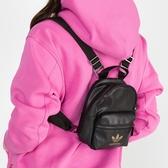【雙12折後$1880】L- adidas Mini Backpack 黑金 男女款 迷你 背包 皮革 質感 後背包 休閒 運動 FL9629
