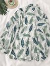 HXT花襯衫女夏設計感小眾寬松防曬衣防曬衫長袖外套港風襯衣上衣 曼慕衣櫃