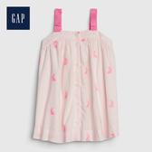 Gap 嬰兒 甜美花卉印花背帶洋裝 544269-經典粉紅色