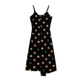 波西米亞2020春季新款沙灘裙兩件套雪紡吊帶裙波點連衣裙中長款女