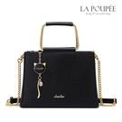 手提包 百搭彩鑽貓咪掛飾方包 2色-La Poupee樂芙比質感包飾 (現貨+預購)