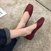 單鞋女平底2020軟底豆豆春款女鞋復古百搭淺口仙女紅色奶奶鞋夏季 後街五號