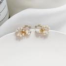 【NiNi Me】耳環 氣質甜美珍珠水鑽925銀針耳環 耳環 N0557