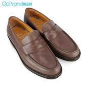 BURBERRY英倫紳士全皮革樂福鞋(咖啡色)087103-2