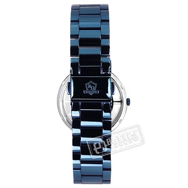 羅梵迪諾 Roven Dino / RD6086MBE / 簡約時尚 半鏤空設計 藍寶石水晶玻璃 不鏽鋼手錶 鍍藍 40mm