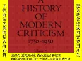 二手書博民逛書店【罕見】A History Of Modern Criticism ;1981年出版Y171274 Rene