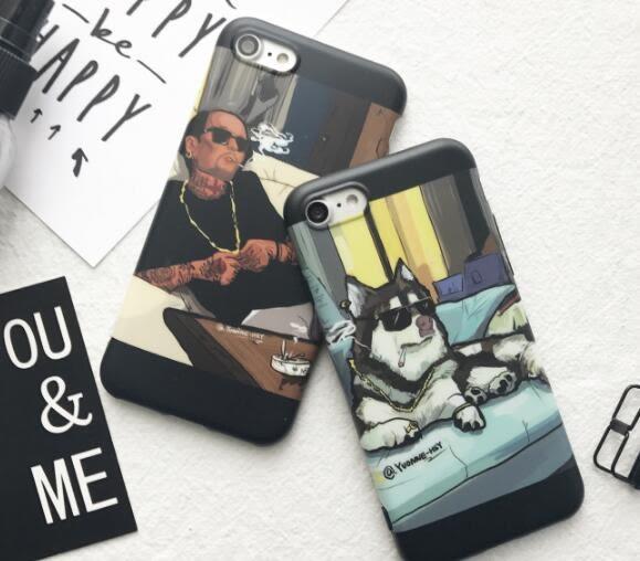 搞怪個性iphone6s手機殼蘋果7plus磨砂軟膠殼iphone7保護套6plus