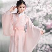 兒童古裝漢服仙女飄逸公主超仙服裝女童櫻花小女孩中國風襦裙(速出)