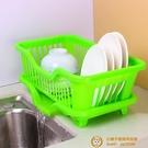 廚房碗筷瀝水籃餐具收納架濾水籃塑料置物架碟盤裝碗架【小獅子】