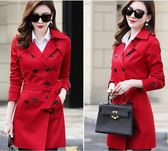 現貨 大衣外套女裝韓版修身小個子風衣女大碼中長款chic大衣外套 10-22