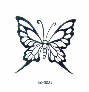 薇嘉雅 蝴蝶 流行時尚圖案紋身貼紙 Q045