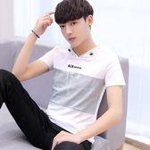 短袖連帽t恤男帶帽連帽T恤運動夏季薄款正韓青少年學生男生外套 萬聖節