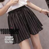 【YOUNGBABY】鬆緊腰綁帶直紋褲裙(28-50)