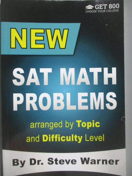 【書寶二手書T8/語言學習_XDN】New SAT Math Problems Arranged by Topic an