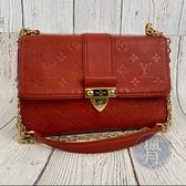 BRAND楓月 LOUIS VUITTON LV M43393 紅色 SAINT SULPICE PM 肩背包 側背包
