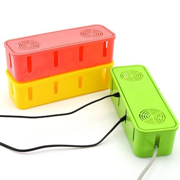 [超豐國際]插線板理線盒電源線插座拖線板整理桌面排插收納電線收納盒