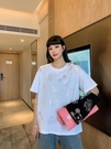 圓領短T 米奇燙鉆短袖T恤女ins潮韓版寬松百搭半袖上衣MA119 胖妹大碼女裝