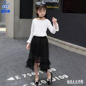 女童兩件套裙款洋氣時髦韓版潮衣服夏裝兒童長袖套裝 zm7993『俏美人大尺碼』
