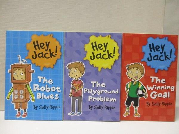 【書寶二手書T4/語言學習_DYE】Hey Jack!The Robot Blue_The Winning Goal等_3本合售_附光碟