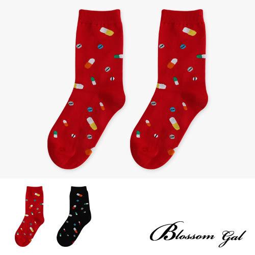 Blossom Gal KUSO生活趣味圖樣造型短襪(膠囊人生)(共兩色)