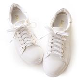 amai《隨時都想長高》可拆式內增高純色休閒鞋 白