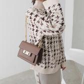 小包包女新款時尚高級感洋氣鍊條包百搭單肩斜挎風琴包