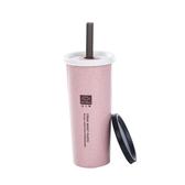 創意簡約小麥秸稈吸管水杯 簡約咖啡杯 隨手杯 水杯 飲料杯 #水杯#