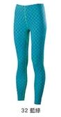 [陽光樂活=] MIZUNO 美津濃 女路跑緊身褲 運動長褲 束褲 藍綠 格紋 J2TB573232