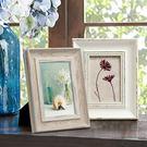 相框-田園復古風做舊歐式美式相框7寸6寸A4正方形5寸掛墻擺台創意相架 雙12交換禮物