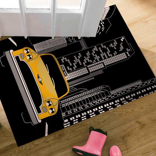 范登伯格-大藝術家 城市汽車風地毯/踏墊-60x100cm