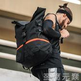 戶外運動包後肩包超大容量戶外籃球訓練包男休閒健身運動背包登山旅行包書包WD 至簡元素