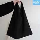 【P284】shiny藍格子-暗黑慵懶風單肩帆布包