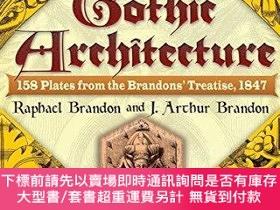二手書博民逛書店Gothic罕見Architecture: 158 Plates from the Brandons Treat