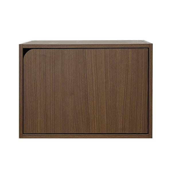 樂嫚妮 堆疊 收納櫃 木門櫃-附門-淺胡桃木色